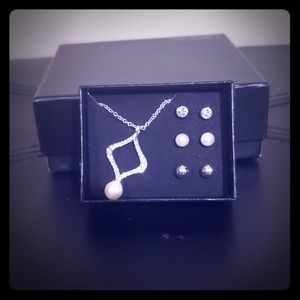Necklace and earring 4 piece gift set